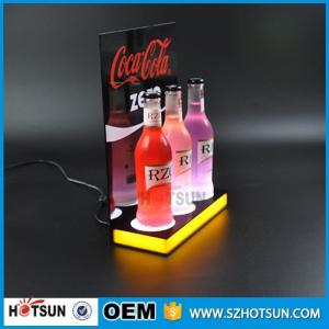 Shenzhen supplier Free design LED acrylic display for wine