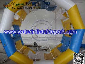 China Cylinder Inflatable Water Roller Ball , Inflatable Fun Roller Water Games on sale