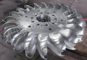 China 500m High Head Pelton Turbine Runner With two Nozzles and forged CNC machining Runner on sale