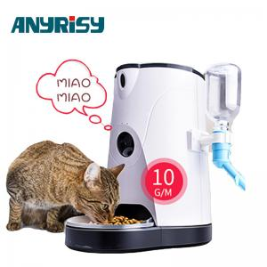China APP Remote Voice  intercom 4L Capacity Automatic Pet Feeder With Waterer on sale