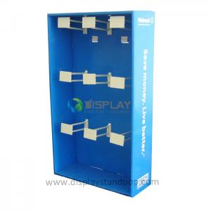 China Corrugated Cardboard Sidekick Displays with Euro Hooks for Walwart on sale