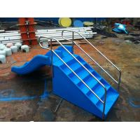 China 0.9M High Plastic Kids Water Slides , Children Double Water Slide With Stair on sale