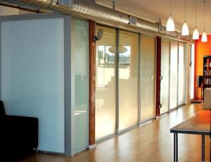 Opaque Milk White Glass Panel Office Partitions Glass Partition - Glass floor panels for sale