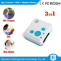 Very small size location tracking children senior gps mobile phone/emergency watch phone