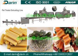 China Small Bone Dog Treats Snacks pet food processing line , Twist dog food maker machine on sale