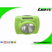 China Light Weight LED Mining Headlamp?6.4Ah Li - Ion Battery With Green Color on sale