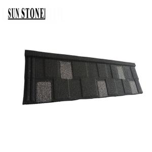 China 50 years versatile housetop cover colorful stone coated metal copper maroon roofing shingle tile materials on sale