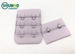 China 3.5cm Width Garments Accessories Purple Color Non Slip 3*2 Hook Bra Extensions For Underwear Bra supplier