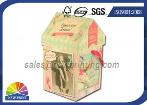 China Personalized House Shaped Rigid Decorative Paper Boxes Presentation Box With Ribbon on sale