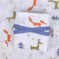 China Nature Soft Bamboo Cotton Muslin Patterned Quick Dry Ultra Versatile on sale