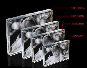 China Square Acrylic Photo Frames Star Poster Frame with Four Magnet 4 Sizes Optional on sale