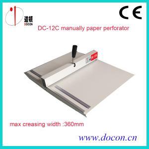 China De DC-12C machine perforante de papier manuellement on sale