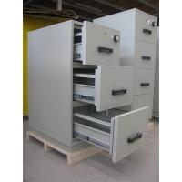 China Grey Steel 4 Drawers Fire Resistant Filing Cabinets For Valuable Records / Documents on sale