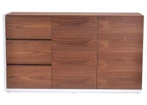 China Luxury Modern Sideboard Cabinet Walnut Vood Veneer Frame And White Lacquer Painting Door Panels on sale
