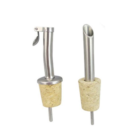 Popular wholesale Stainless Steel Pourer with Cork for Ceramic/Olive
