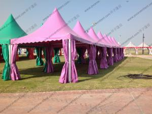 China Colorful Multi - Side PVC Pagoda Tent Aluminium Alloy Frame For Event / Party on sale