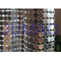 Antique Coated Metal Sequin Fabric Easy Installation Architectural Drapery