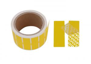 China Anti - Tamper Custom Security Stickers Labels / Adhesive Warranty Seal Sticker on sale