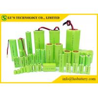China Cylindrical Single Cell 1.2 V Rechargeable Battery Nickel Metal Type Low Self Discharge on sale