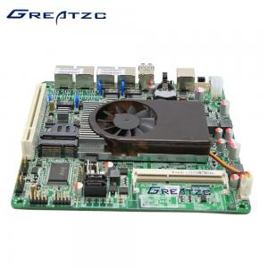 China Dual Core Quad LAN Motherboard , Fan Version Intel Atom D525 Motherboard on sale