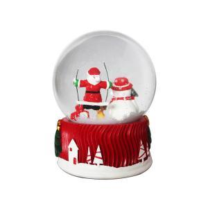 China Santa Claus Christmas Snow Globes / Mini Figure Snow Globes For Kids on sale