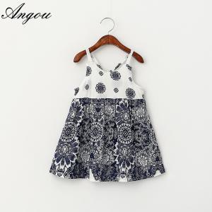 Wholesale Baby Girls Dress Slip Floral Pattern Dress Children