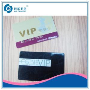 China Shop / Club VIP Card Printing Service , Custom Printed Bank Magnetic Card on sale