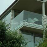Safety Frameless Toughened Glass Railing withStainless Steel Standoff