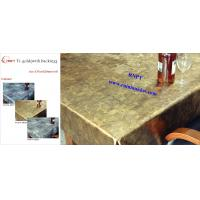 Fancy PVC Table Cloth--RNPT Ti-Gold Table cloth with polyester backing  for Iran and Turkey ,Azerbaijan ,South Africa