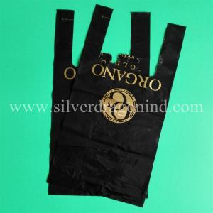 China Cheapest black HDPE T-sacks & T-shirt bags, heavy duty, professional T-shirt bags manufacturer, made in china on sale