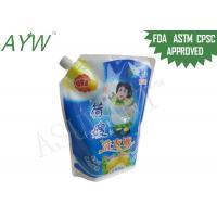 China 2KG Plastic Wash Fluid Liquid Spout Bag / Bags For LiquidsLaundry Detergent Packaging on sale