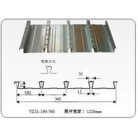 Q235 / Q345 metal floor decking sheet Zinc coating 60 - 275g/m2