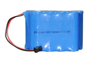 China Blue Lightweight Flashlight Battery Pack Li - Ion 5400mAh 11.1V on sale