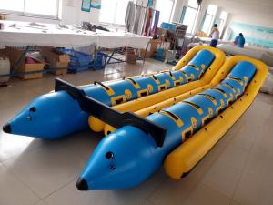 China Large Custom 12 Person Inflatable Banana Boat For Water Entertainment on sale