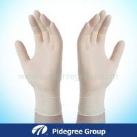 Coloured, medium, absorbable cornstarch USP grade powder, finger latex examination gloves