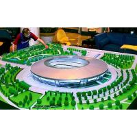 China Round Green Acrylic Architectural Model Supplies  For Football Stadium Layout on sale