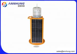China Red Solar Aviation Obstruction Light with High Efficient LED Chip on sale