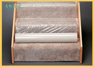 China Self Adhesive Carpet Protection PE Film Clear Plastic Carpet Protector on sale