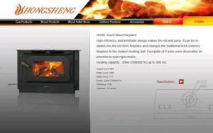 China Insert Wood Fireplace on sale