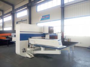 China Repositioning Cnc Punching Machine With Amada Tools Turret Punching Fanuc Control on sale