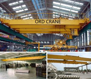 China 20 ton / 5 ton QD Series Dual Speed Double Girder Overhead Crane With Trolley on sale