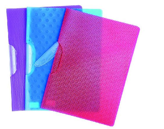 Transparent Color Folder With Plastic Bar Slide Lock