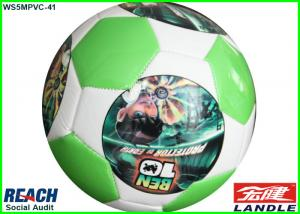 China Size 5 PVC Leather Photo Football Soccer Ball / Synthetic Shiny Official Soccer Balls on sale