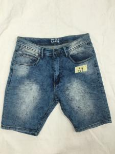 China Anti Wrinkle Skinny Cargo Mens Short Pants Jeans Soft Cotton Spandex Fabric on sale