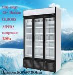 Del acero congelador comercial inoxidable -25°C de la exhibición verticalmente con 3 puertas