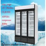 Нержавеющей стали замораживатель -25°C дисплея Upright коммерчески с 3 дверями