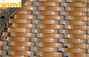 China Brown Water Flow Style Glass  Mosaic Tile For Home Decor Strip Tile on sale