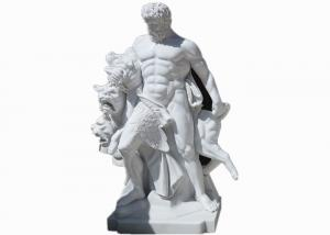 China Western style life size white marble stone man statue sculpture on sale