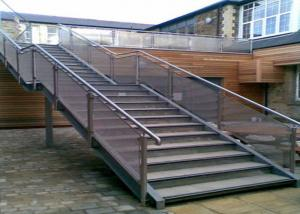 China Wear Resistance Stainless Steel Railing Smooth Surface No Sharp Edges / Corners on sale