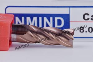 China 8mm HRC55  SiN TiAlN Coating , Square End Mill , WF25 Rod , Precsion cutting tools , Standard Length on sale